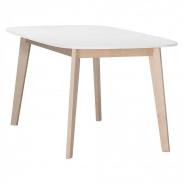 Jídelní stůl Sissa - dub/bílá