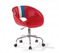 Dětská židle na kolečkách Rally - červená