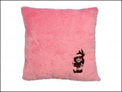 Dětský polštářek Malá čaroděj.-růžový