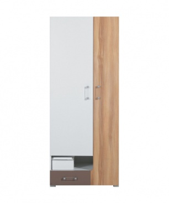 Šatní skříň Anabel 3 - jilm/bílá lux/cappucino