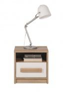 Noční stolek Aygo - buk pískový/bílá
