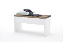 Moderní šatní lavice ROMINA - masiv/bílá