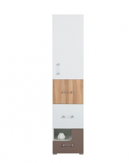 Skříňka Anabel 6 - jilm/bílá lux/cappucino