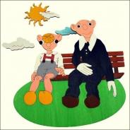 Dětská lampička Spejbl a Hurvínek