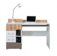 Psací stůl Anabel 13 - jilm/bílá lux/cappucino
