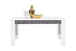 Jídelní stůl s rozkládáním Brando - bílá / beton