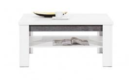 Konferenční stolek Brando - bílá / beton