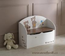 Dětská lavice s úložným prostorem Ted-Lily