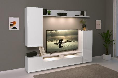 Moderní obývací stěna LIA - bílá