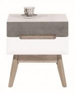 Odkládací stolek Scandic - bílá / beton