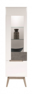 Vitrína Scandic levá - bílá / beton