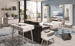 Obývací pokoj Scandic II - bílá / beton