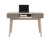 Konzolový stolek Scandic - bílá / beton