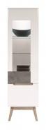 Vitrína Scandic pravá - bílá / beton