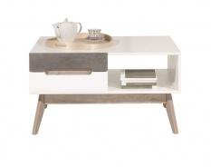 Konferenční stolek Scandic - bílá / beton