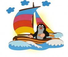 Dětská lampička Krtek na lodi