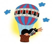 Dětská lampička Krtek v balónu