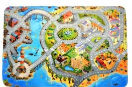 Dětský koberec 3D ultra soft Město s pláží