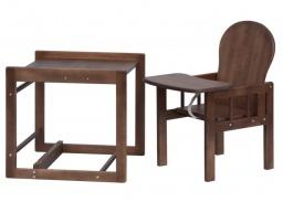 Dětská jídelní židle kombi- masiv borovice -wenge