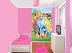 Dětská tapeta na zeď 6-dilná - Princezny na louce