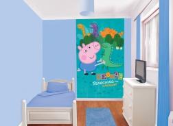 Dětská tapeta na zeď 6-dilná - Prasátko Pepina