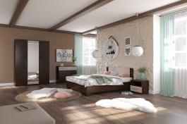 Ložnice AVRORA 4, s postelí 160x200 cm - wenge
