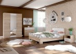 Ložnice AVRORA 5, s postelí 160x200 cm - dub sonoma / bílá