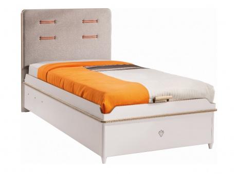 Dětská postel Archie 100x200cm s úložným prostorem - bílá / dub světlý
