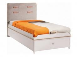 Dětská postel Archie 100x200cm s úložným prostorem - bílá/dub světlý