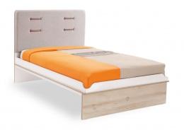 Dětská postel Archie 100x200cm - bílá/dub světlý