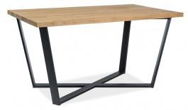 Jídelní stůl MARCELLO 150x90cm - dýha dub / černá