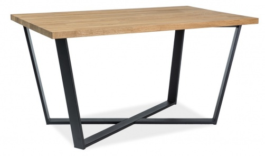 Jídelní stůl MARCELLO 180x90cm - dýha dub / černá