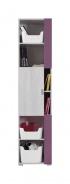 Úzká skříň Delbert 6 - borovice/fialová
