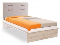 Studentská postel Archie 120x200cm - bílá/dub světlý