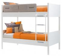 Dětská patrová postel Archie 100x190cm - bílá/dub světlý