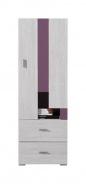 Nízká skříň Delbert 8 - borovice/fialová