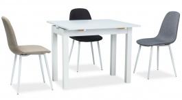 Jídelní stůl rozkládací KACPER 50x90cm - bílý mat
