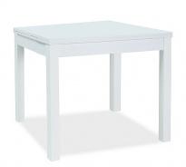 Jídelní stůl rozkládací KACPER 90x90cm - bílý mat