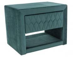 Noční stolek AZURRO VELVET - zelená