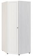 Rohová šatní skříň PRAGA KIDS WK-725 - jasan / bílá