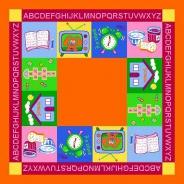Dětský hrací koberec abeceda