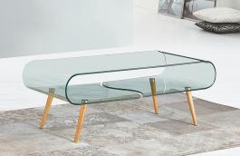 Konferenční stolek CRISTAL - buk / sklo