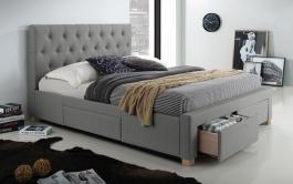 Čalouněná postel OSLO 160x200 - šedá