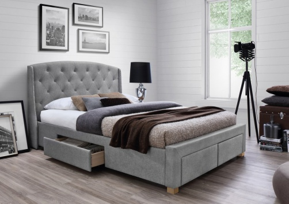 Čalouněná postel MADISON 160x200 - šedá