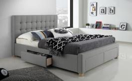 Čalouněná postel LINCOLN 160x200 - šedá