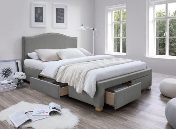 Čalouněná postel CELINE 160x200 - šedá