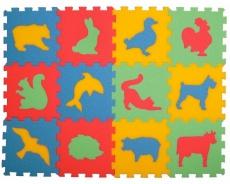 Pěnový koberec- zvířata, 12 dílků