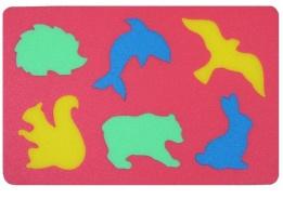 Pěnové puzzle koberec divoká zvířata, 6 dílků