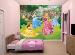 Dětská 3D tapeta na zeď Walltastic -Princezny 2