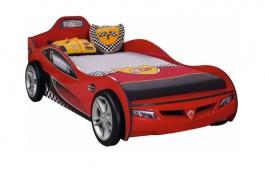 Dětská postel auto SUPER 90x190cm - červená
